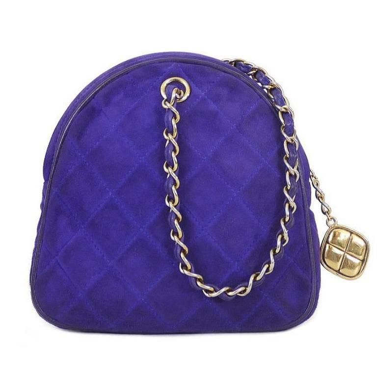 9f5acc55824c83 Vintage Chanel Purple Suede Evening Bag, Wristlet in 2018 | Misc ...