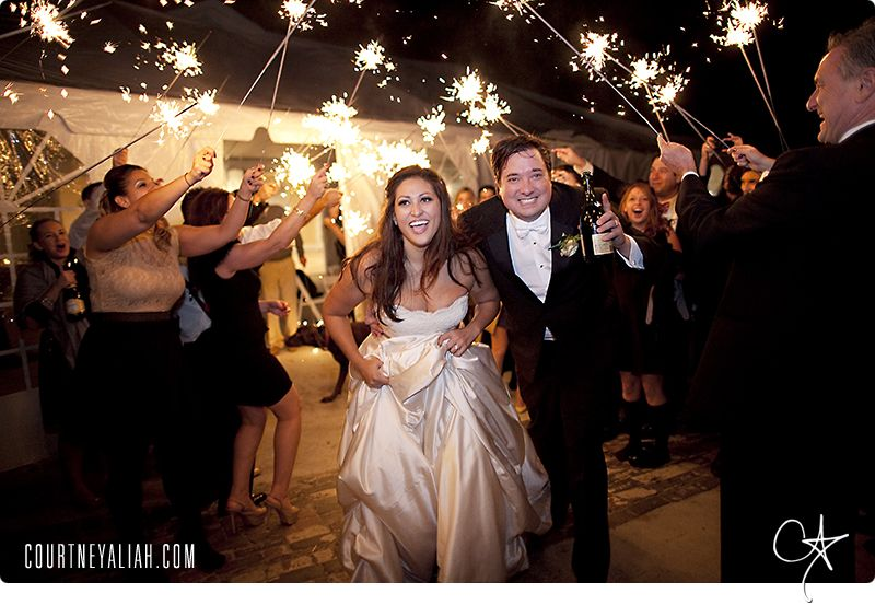Wedding - Sparkler Exit - Courtney Aliah Photography