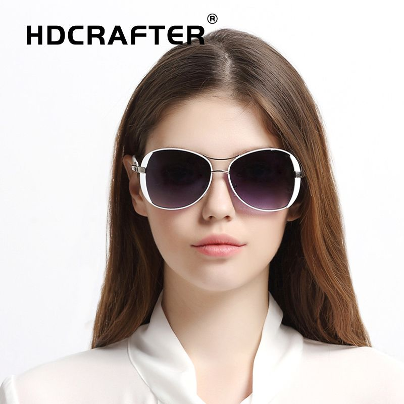 0cf798ae085 HDCRAFTER Ladies s sunglasses women Fashion Luxury vintage oversized  sunglasses for woman brand designer high quality classic