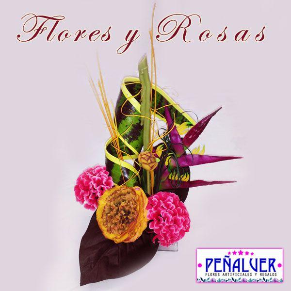 Centro de flores cuqui - RF00476 Centros de flores artificiales