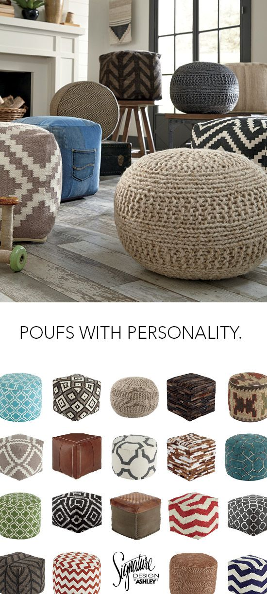 Poufs With Personality Home Furniture And Accessories Ashley