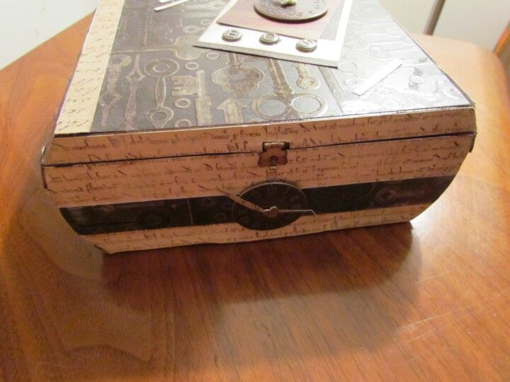 Cigar box to watch box upcycle