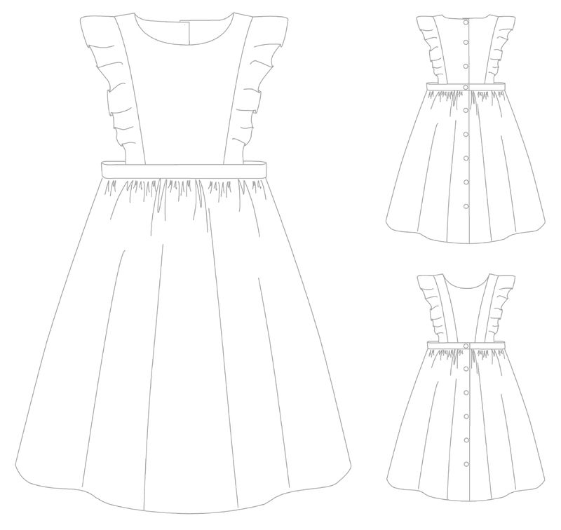 La petite robe-tablier - Papillon et Mandarine | Mode petite fille ...