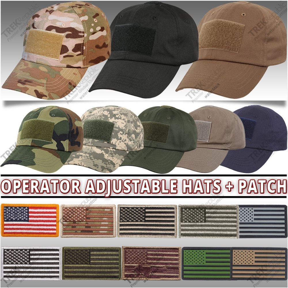 ca621cf5102 Adjustable Operator Tactical Cap Military Special Forces Hat American Flag  Patch  Rothco  BallCap