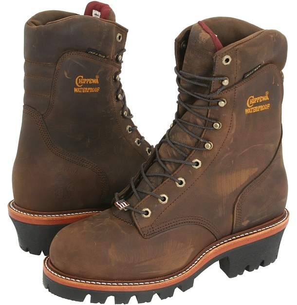 09379ceb009 Chippewa 9 Waterproof Insulated Super Logger Men's Work Boots ...