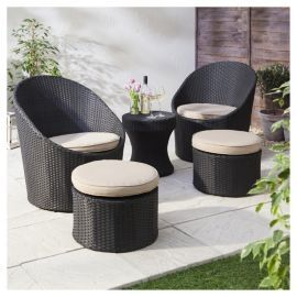 buy marrakech rattan garden lounge set black cream from our all garden furniture range at tesco direct we stock a great range of products at everyday - Rattan Garden Furniture Tesco