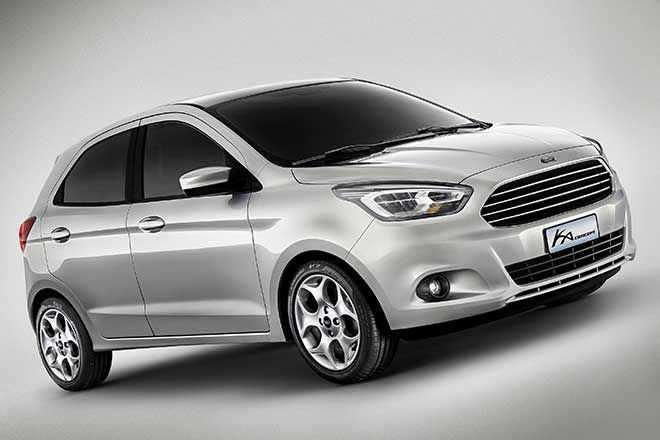 Ford Reveals New Ka Global Small Car Concept Autoexpo New