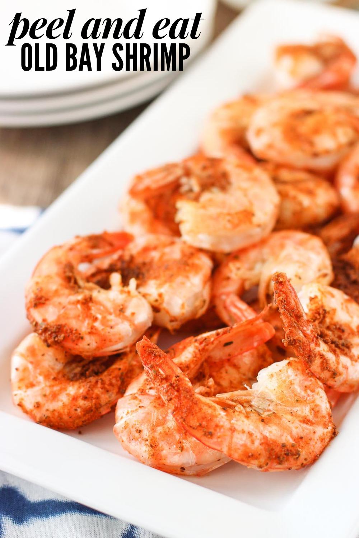 Easy Peel and Eat Old Bay Shrimp #boiledshrimp