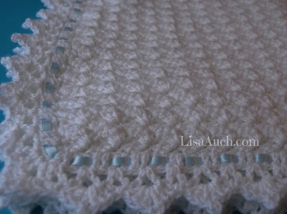Free Crochet Pattern For A Beautiful Baby Blanket Or Baby Shawl