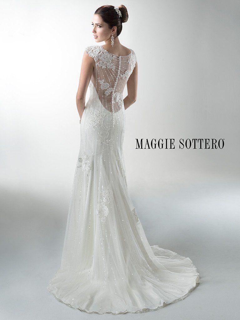 Vintage Lace Slip Wedding Dress