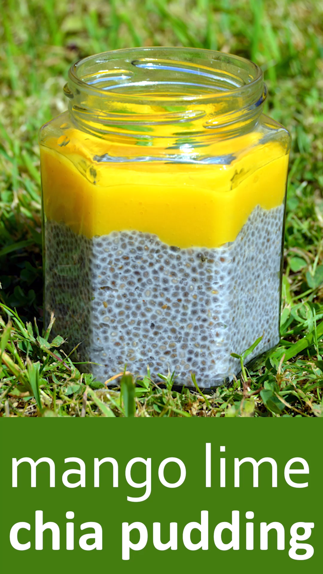 Mango Lime Chia Pudding #chiaseedpudding