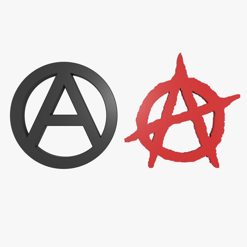 3d Anarchy Symbol 3d Model Anarchy Symbol Anarchy 3d Model
