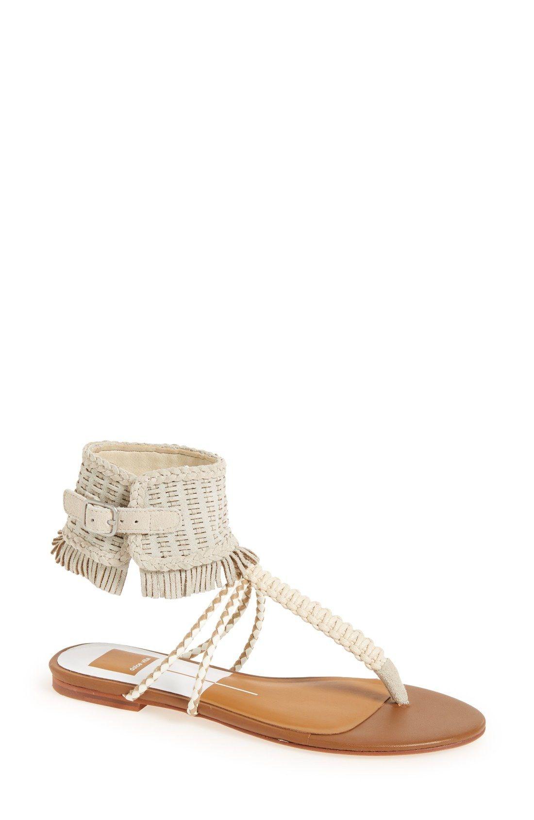Dolce Vita Fringe flat sandals 88auR
