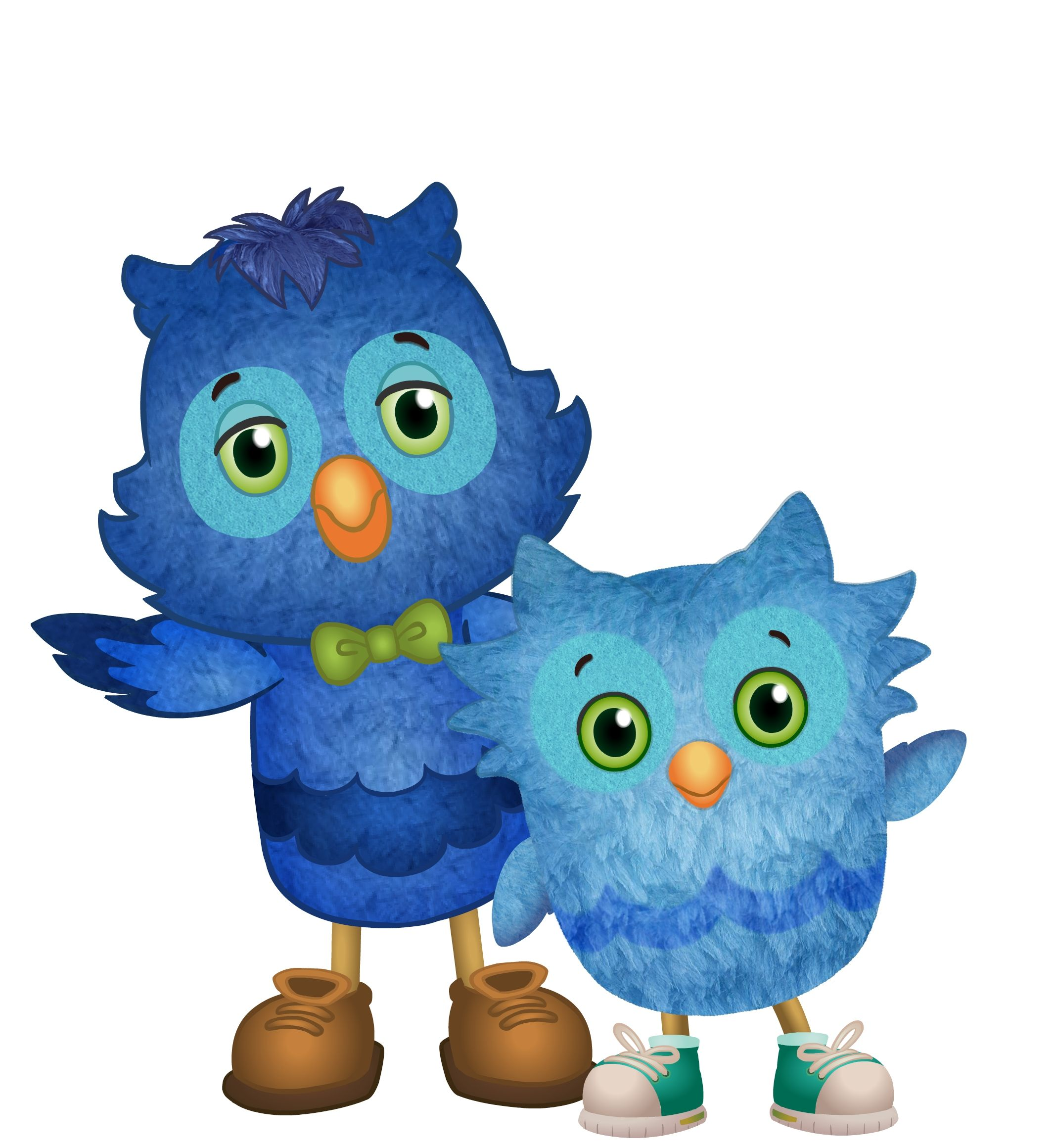 x the owl and o the owl from daniel tiger u0027s neighborhood buhos