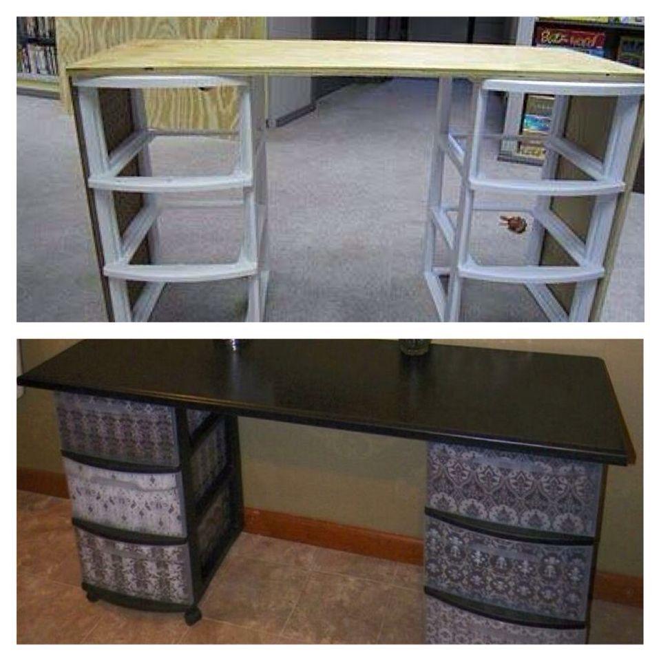 Decorated Plastic Storage Bo