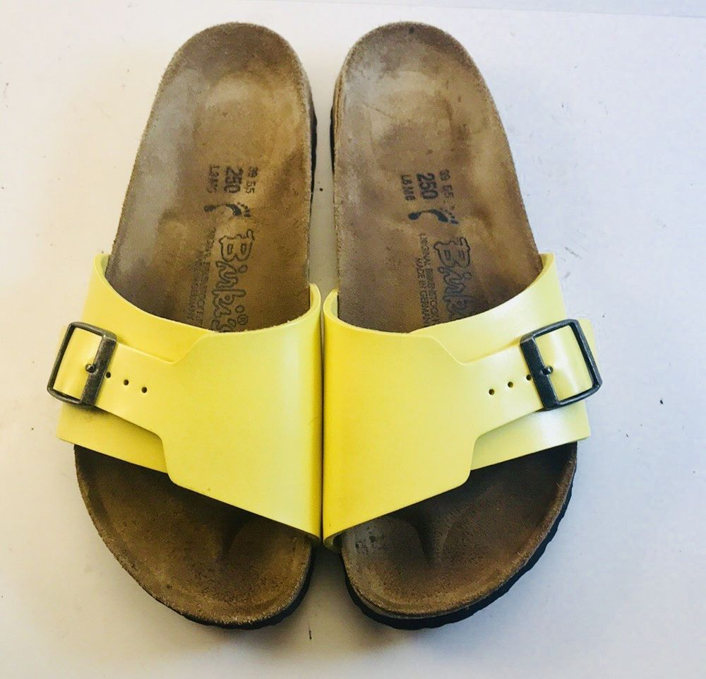 94749c308c1c68 Birkenstock Birkis Yellow Sandals Sz 39 US 8.5 EUC  fashion  clothing  shoes   accessories  womensshoes  sandals (ebay link)