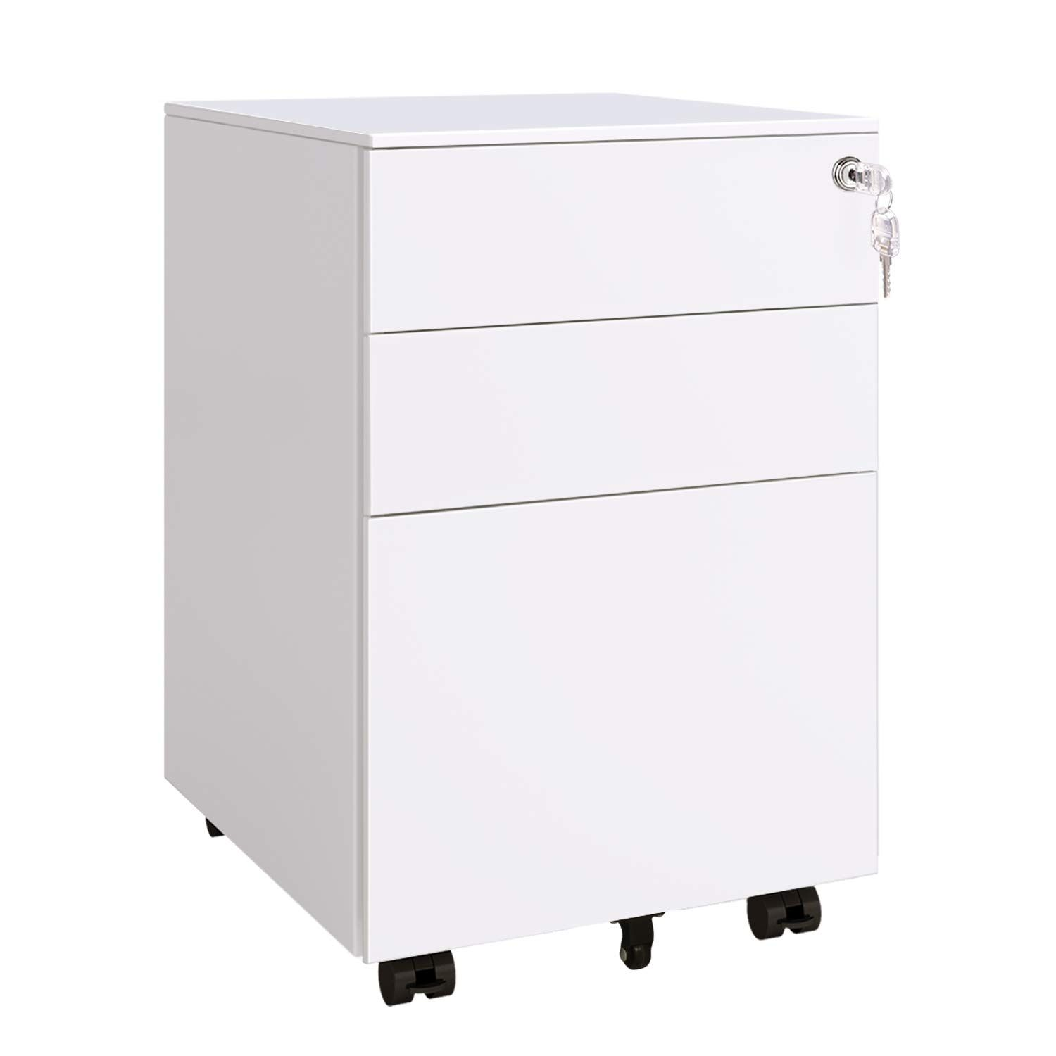 Devaise 3 Drawer Locking Filing Cabinet Mobile Pedestal File Cabinet In White You Can Get Additional Deta In 2020 Filing Cabinet Amazon Home Decor Home Decor Quotes