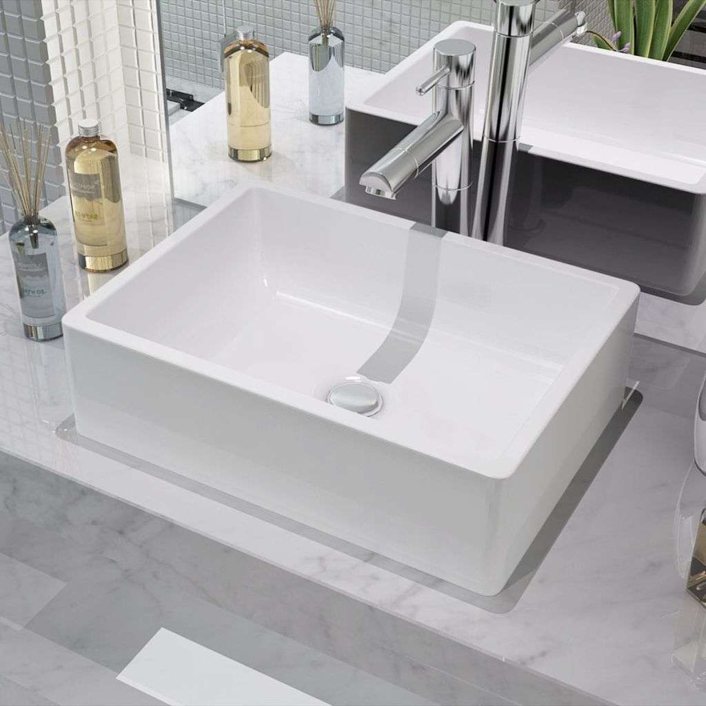 Vidaxl Keramik Aufsatz Waschbecken Waschtisch Waschplatz Badzimmer