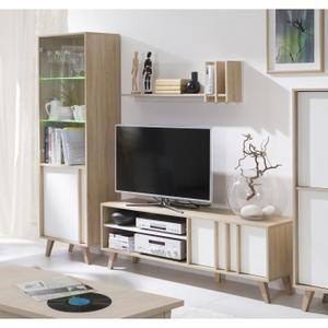 price factory ensemble design pour votre salon malmo bibliothque petit modle meuble tv