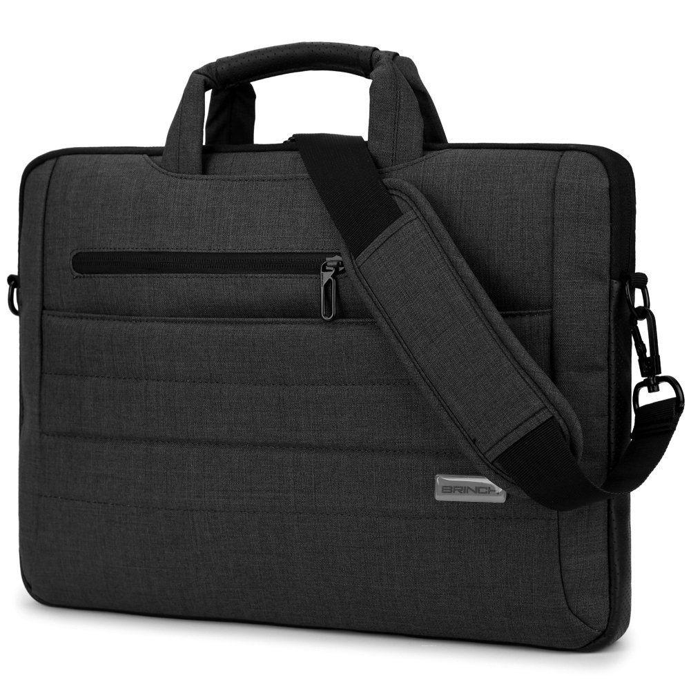 Brinch 15 - 15.6 Inch Multi-functional Suit Fabric Portable Laptop Sleeve  Case Shoulder Messenger Bag Briefcase for Laptop f09d579ad289b