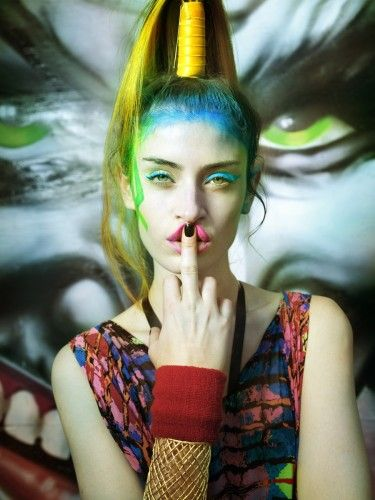 graffiti makeup - Google Search