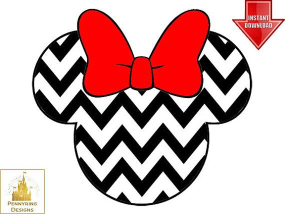 baby photo collage ideas download - Chevron Minnie Mouse Head Printable Iron Transfer by
