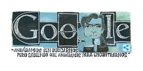 El motor de búsqueda rinde homenaje a los 100 años del nacimiento del escritor argentino.