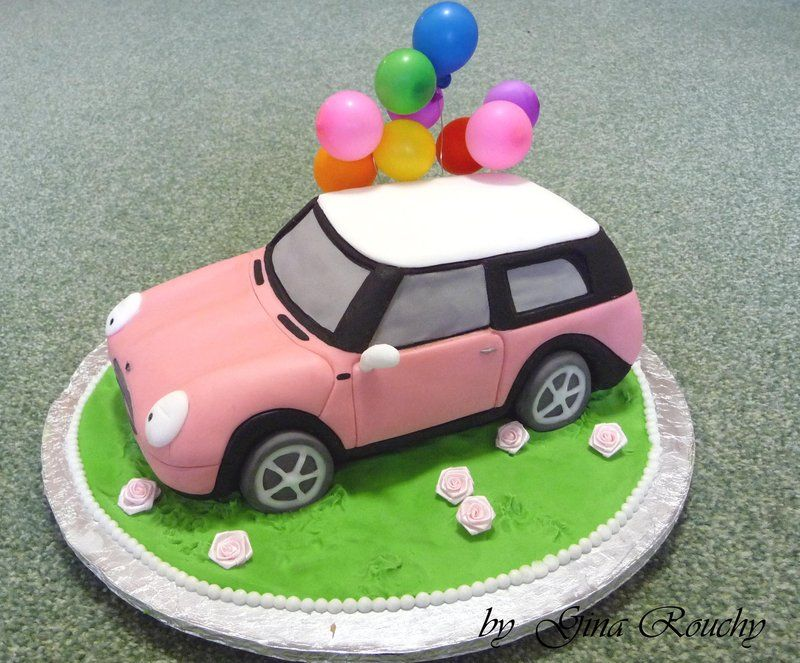 mini cooper wedding cake topper pink mini cooper by ginas cakes on deviantart mini 17393