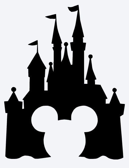 Mickey Disney Castle Vinyl Decal Picture Frame Window Coffee