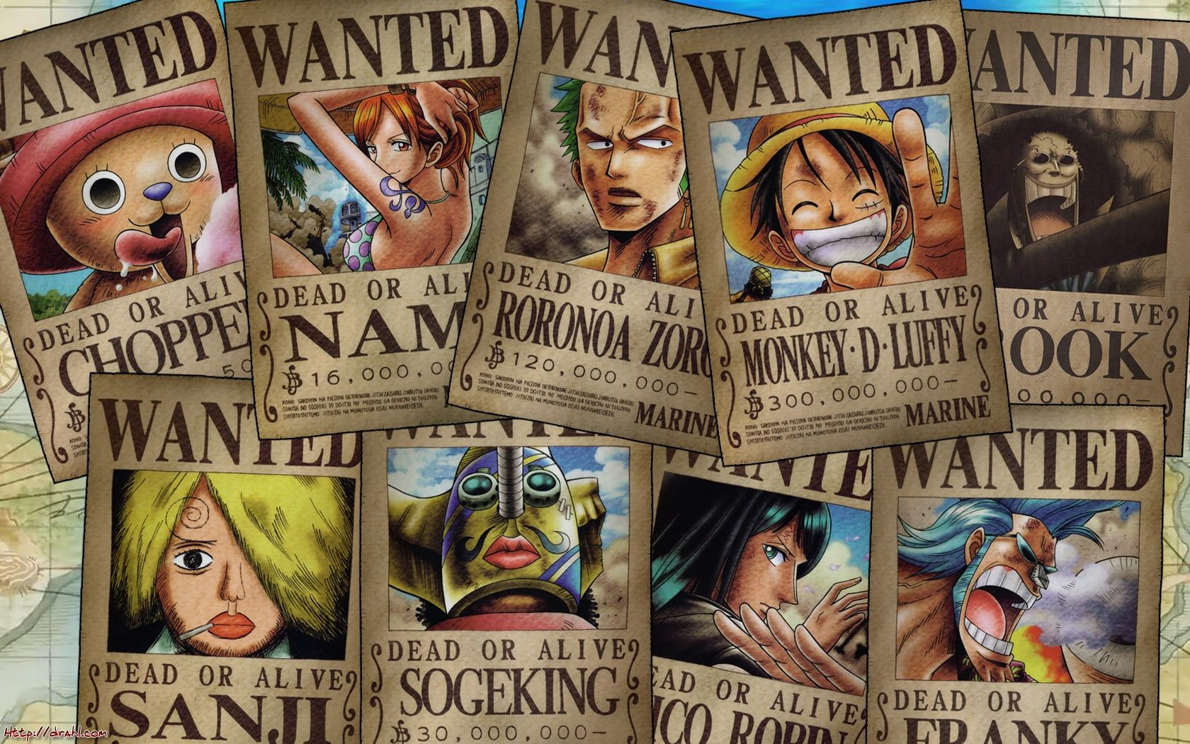 One Piece Wanted Posters One Piece Tony Tony Chopper Nami Roronoa Zoro Monkey D Luffy Brook Sanji Usopp N One Piece Theme Custom Canvas Art Monkey D Luffy