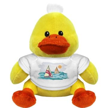 Sailing Watercolor Small Plush Duckie