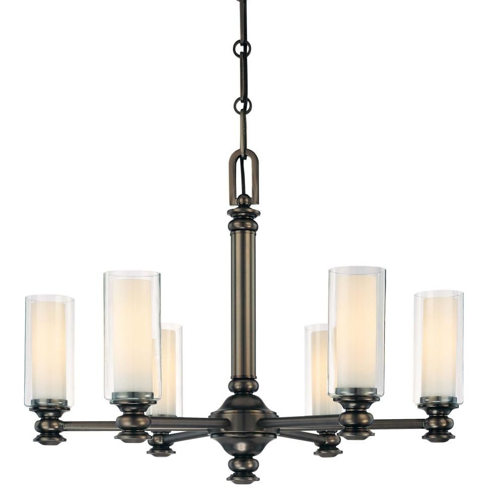 Carol's Lighting in Humble, Texas, United States,  9MQ6, Six Light Bronze Candle Chandelier, Harvard Court, Bronze - Harvard Ct. Bronze