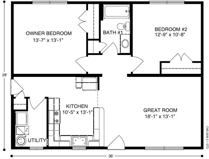 Cabin Plan B1 Of Ameri Log Collection All American Homes Cabin Plans Floor Plans Cabins And Cottages