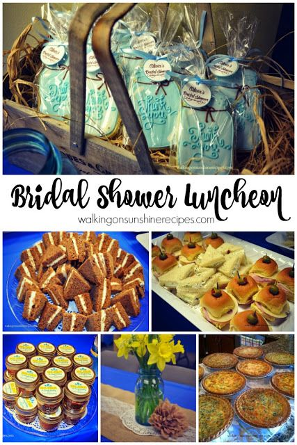 the perfect bridal shower luncheon menu from walking on sunshine recipes