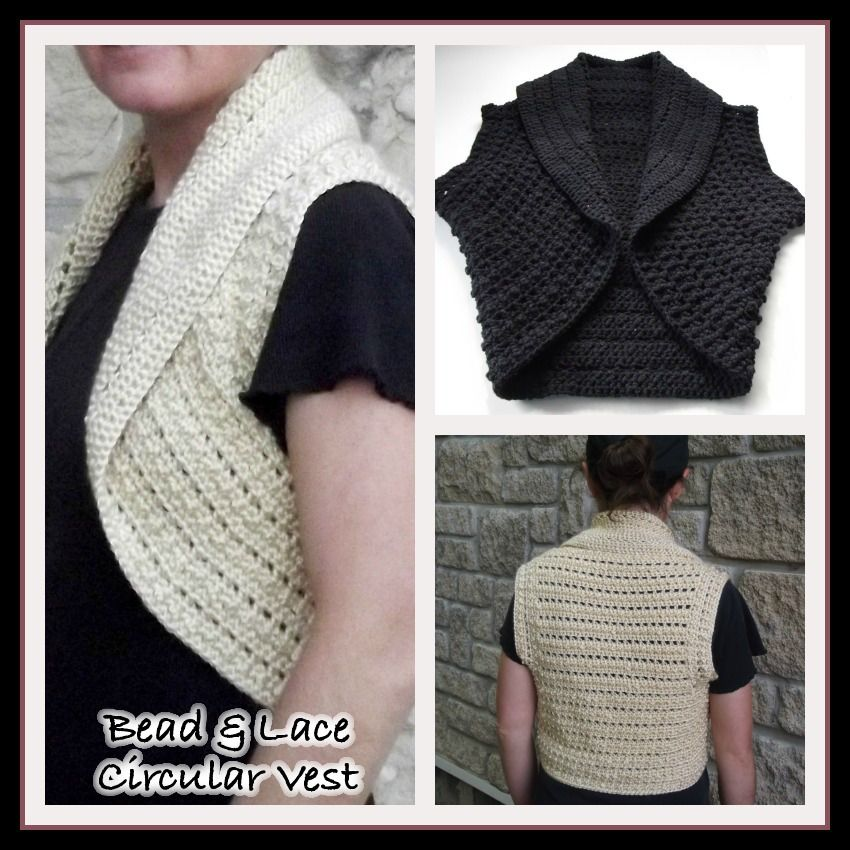 Bead and Lace Circular Vest ~ FREE Crochet Pattern | aves ...