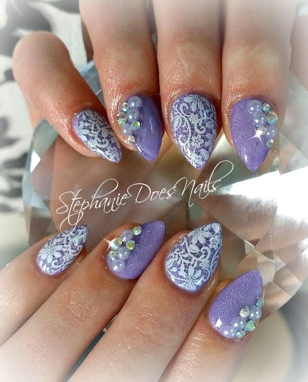 Acrylic nails. Instagram @stephaniedoesnails | Nails | Pinterest