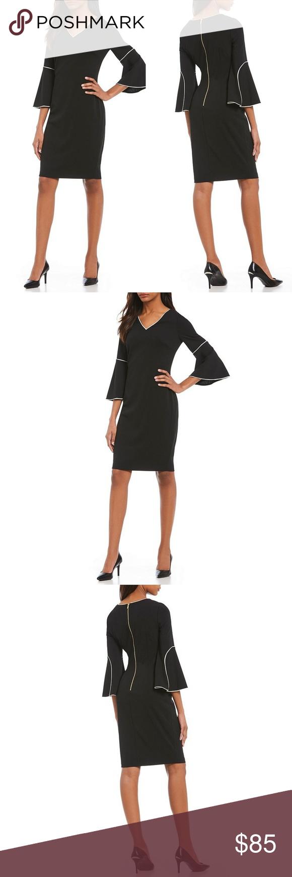 Off The Shoulder White Trimmed Black Dress Dresses Black Dress Clubwear Outfits [ 1338 x 1080 Pixel ]