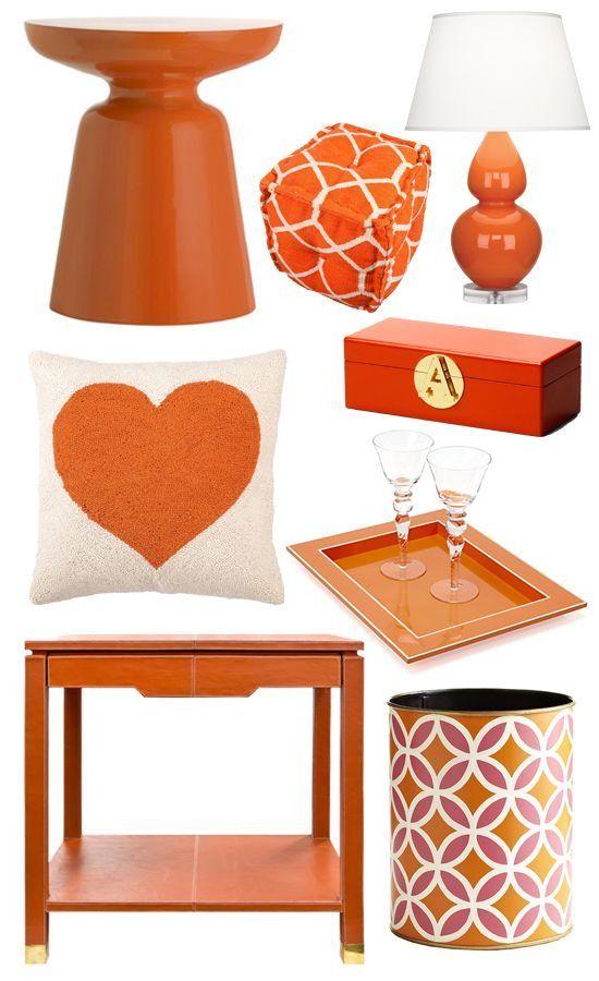 Bring Summer Inside With Bright Orange Decor | Orange home ...