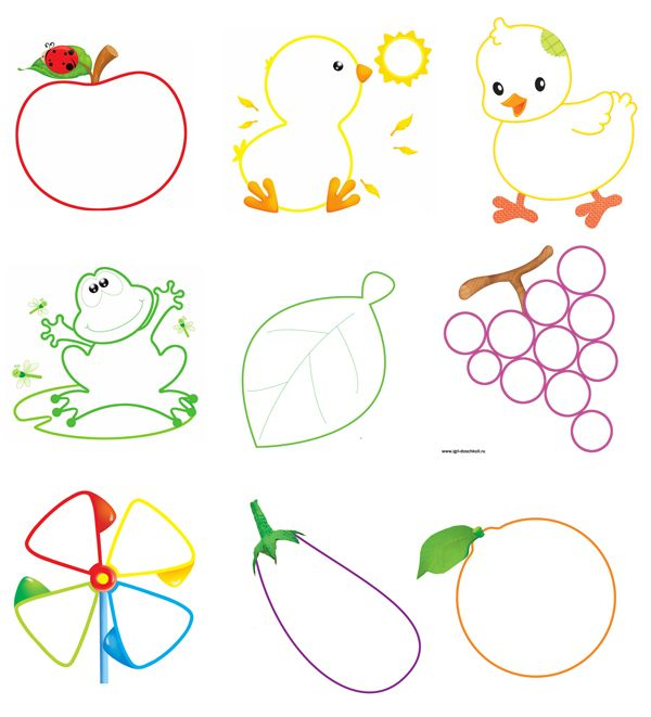 Крупные раскраски для малышей с цветными подсказками ...