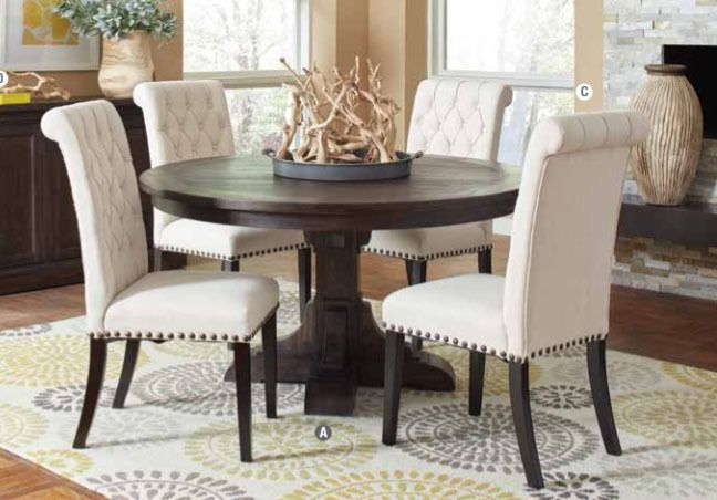 Bridgen 3429rt Round Marble Table Set Interior Design Dining Room Dining Room Sets Dining Chairs