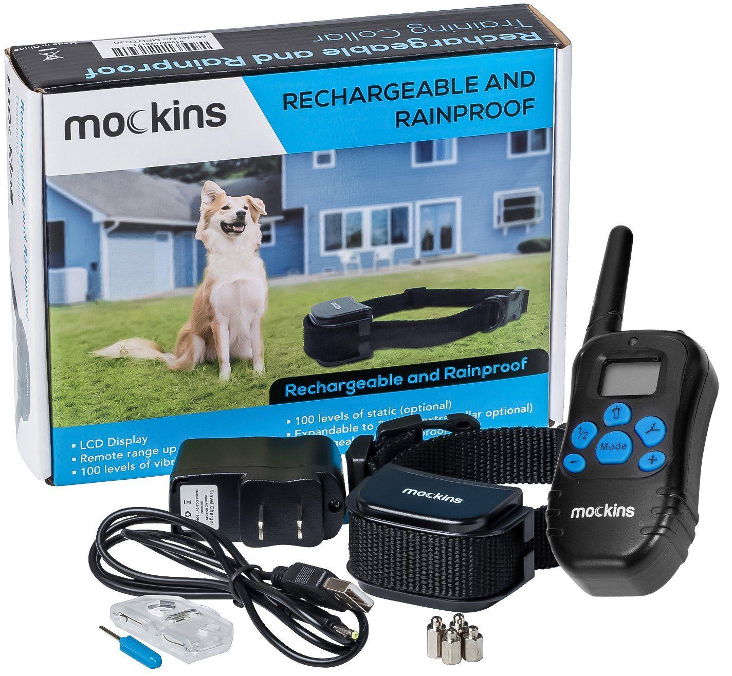 Mockins 100 Rainproof Rechargeable Electronic Remote Dog Training