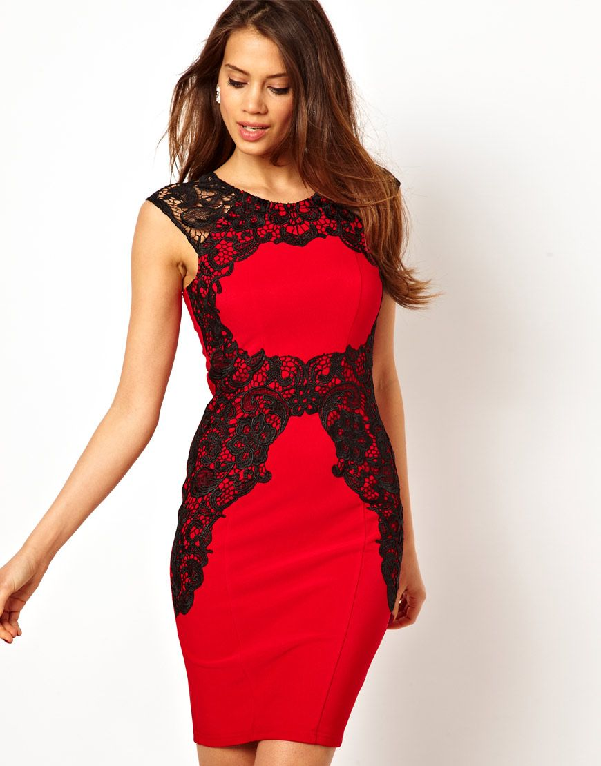 Vestidos rojos morenas