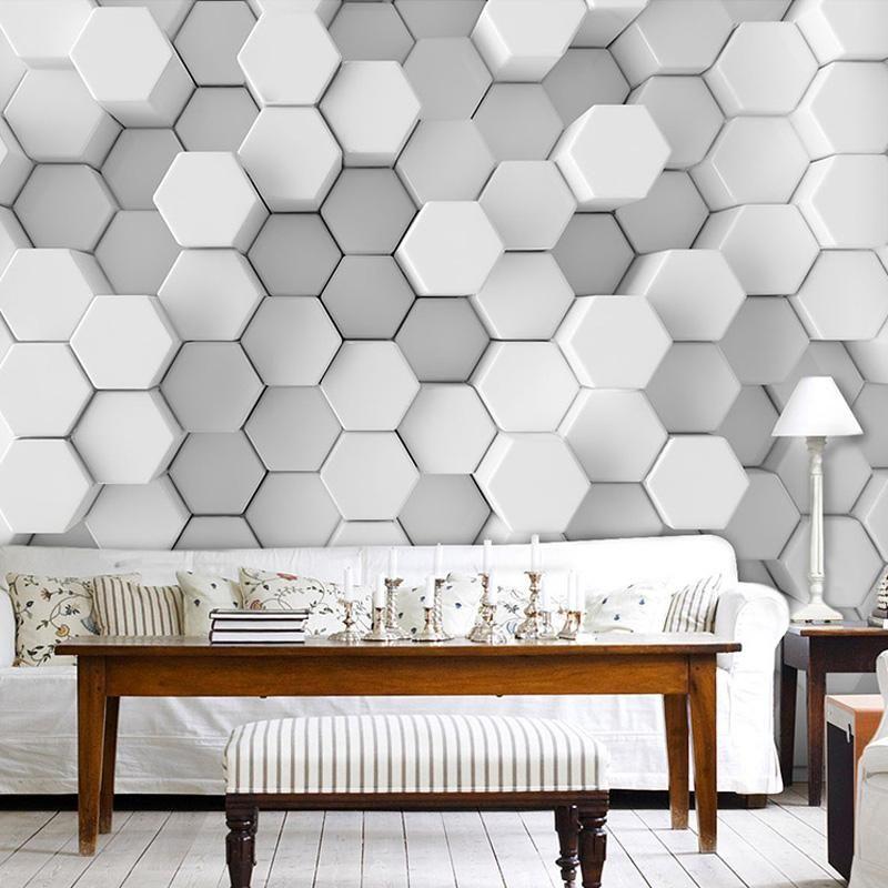 Custom Photo Wall Paper 3d Stereoscopic Geometric Wallpaper Office Den Sofa Living Room Tv Background Mu Wall Wallpaper Wallpaper Living Room Living Room White
