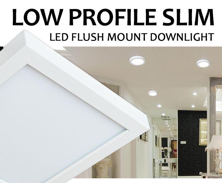 Low Profile Slim Led Flush Mount Downlight Liteharhor News Led Flush Mount Downlights Pot Lights