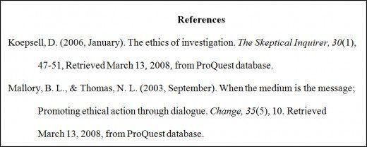 Sources for bibliography