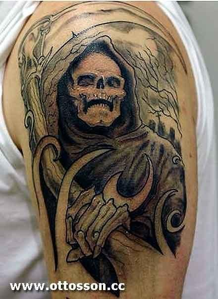 Death Ghost Tattoo Design: Real Photo Pictures Images and Sketches ...
