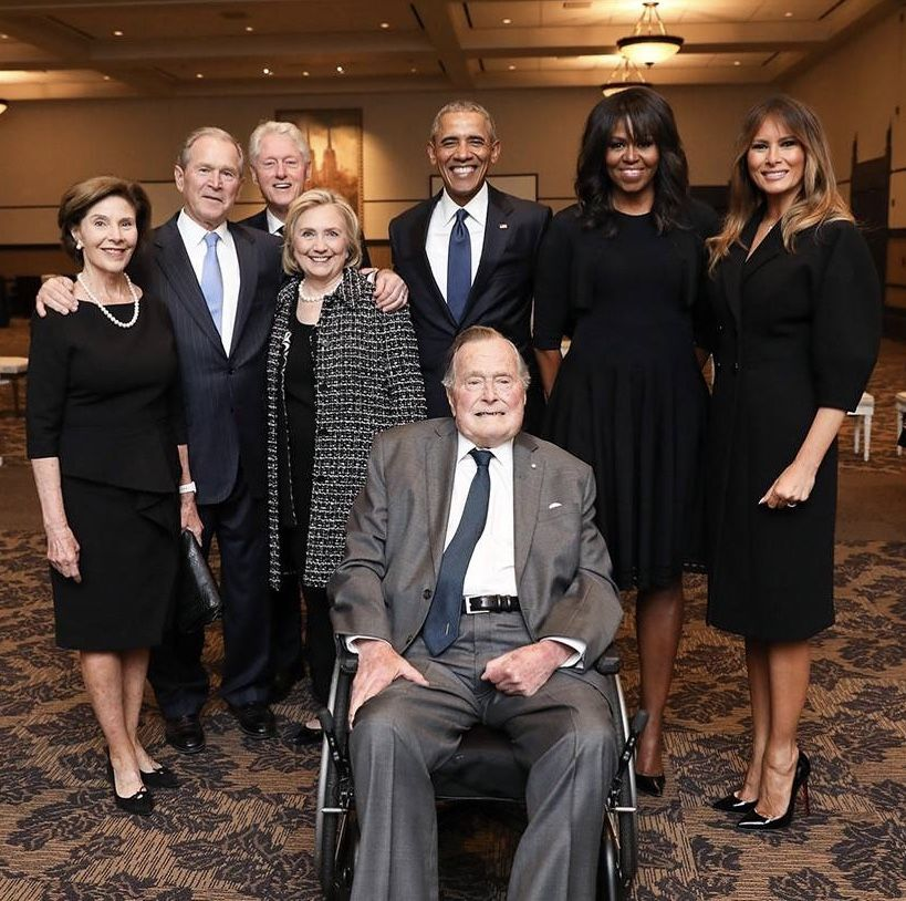 First Lady Melania Trump, Bush family & past administrations, 4/21/18