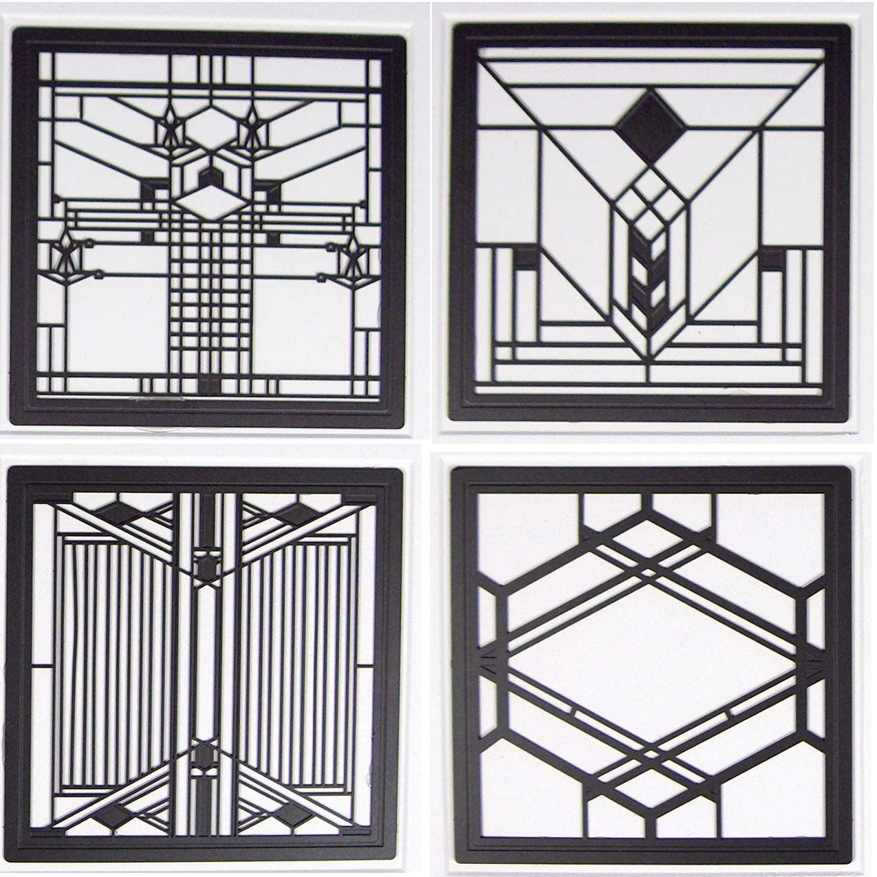 hindostone products coasterstone fwas600 frank lloyd wright art glass ii metal insert absorbent. Black Bedroom Furniture Sets. Home Design Ideas