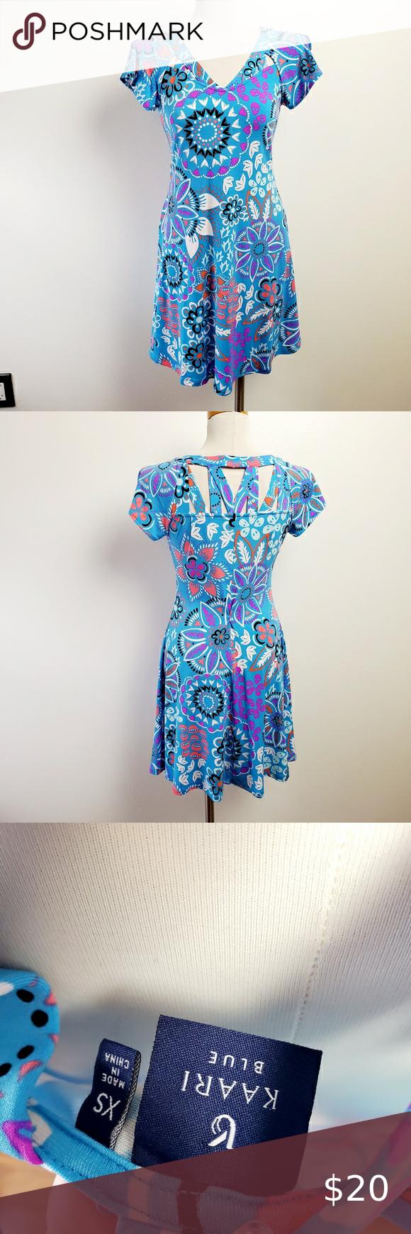Kaari Blue Xs Cute Flower Dress Flower Dresses Dresses Clothes Design [ 1740 x 580 Pixel ]
