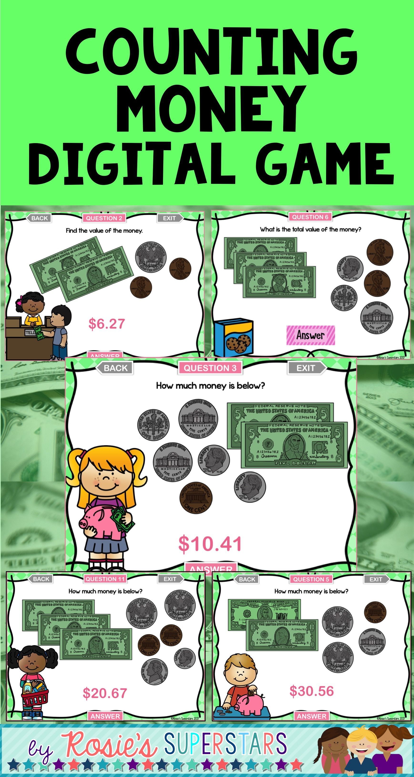 Counting Money Activities Bundle
